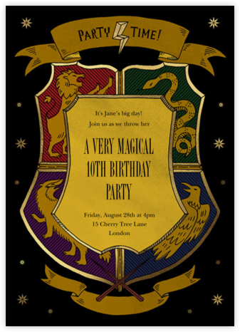 We're Wizarding - Paperless Post - Online Kids' Birthday Invitations