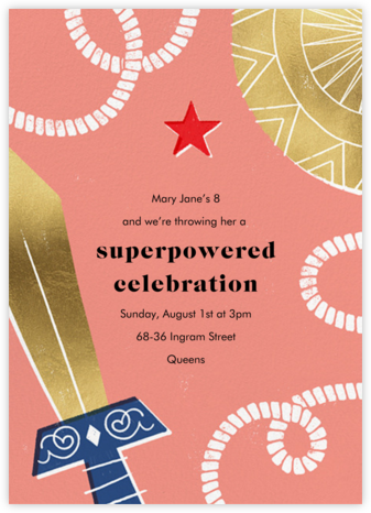 Birthday Hero - Papaya - Paperless Post - Online Kids' Birthday Invitations