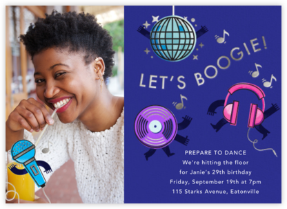 Boogie Baby - Paperless Post - Adult Birthday Invitations