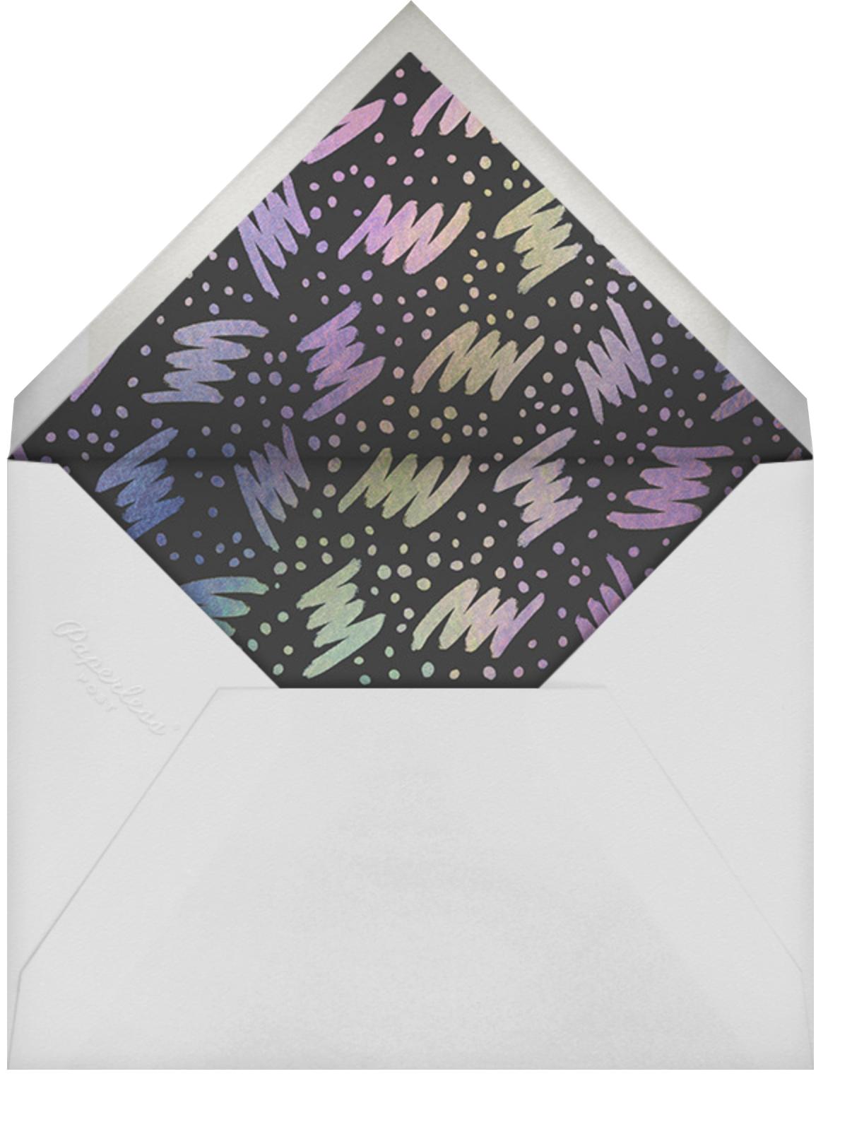 Racer Stripes - Paperless Post - Adult birthday - envelope back