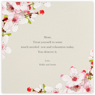 Blushing Blossoms - Felix Doolittle - Mother's Day Cards