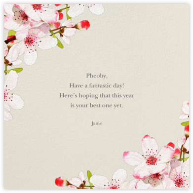 Blushing Blossoms - Felix Doolittle - Birthday Cards