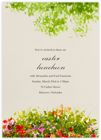 Wildflower Clearing - Felix Doolittle - Easter invitations