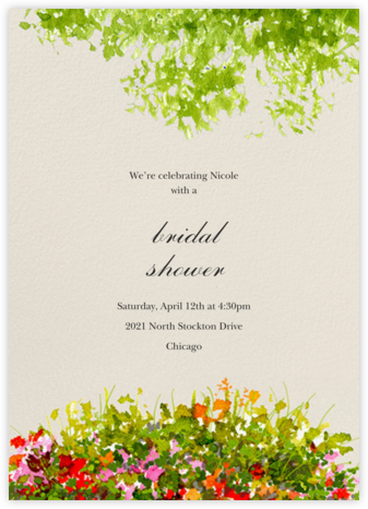 Wildflower Clearing - Felix Doolittle - Bridal shower invitations