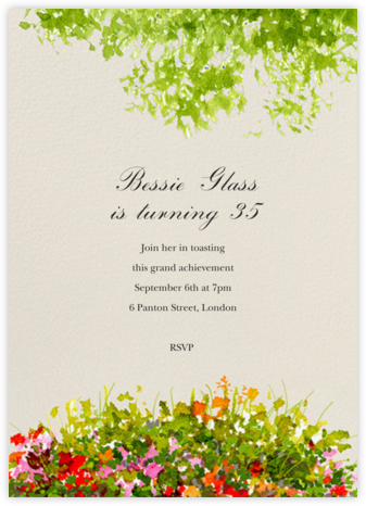 Wildflower Clearing - Felix Doolittle - Adult Birthday Invitations