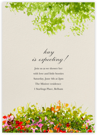 Wildflower Clearing - Felix Doolittle - Baby shower invitations