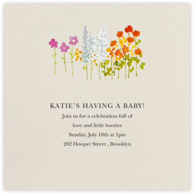Wildflower Stems - Felix Doolittle - Baby Shower Invitations