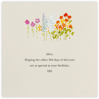 Wildflower Stems - Felix Doolittle - Birthday Cards for Her