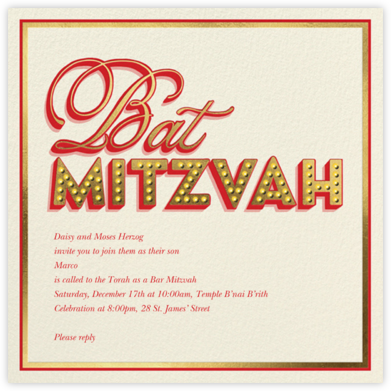 Mitzvah Marquee - Bat - Paperless Post - Bat and Bar Mitzvah Invitations