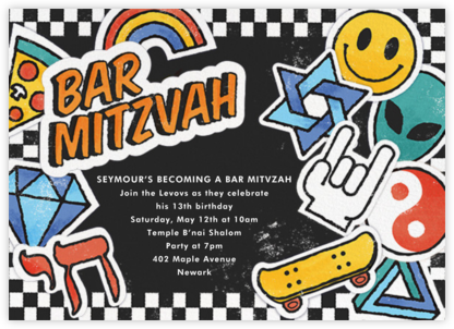 Challah Back - Bar - Paperless Post - Bat and Bar Mitzvah Invitations