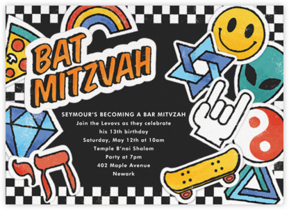 Challah Back - Bat - Paperless Post - Bat and Bar Mitzvah Invitations