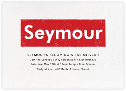 A Love Supreme (Bar) - Red - Paperless Post - Bat and Bar Mitzvah Invitations