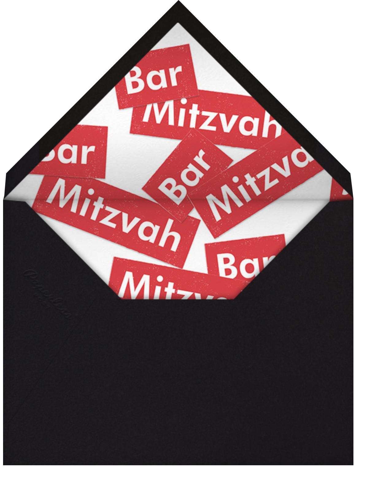 A Love Supreme (Bar) - Red - Paperless Post - Bar and bat mitzvah - envelope back