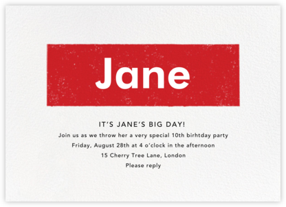 A Love Supreme - Paperless Post - Online Kids' Birthday Invitations