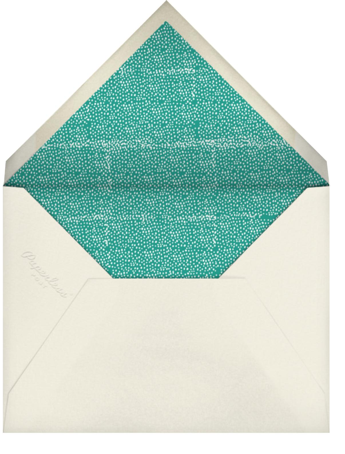 Bringing up Baby - Mr. Boddington's Studio - Baby shower - envelope back