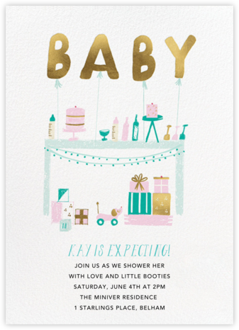 Bringing up Baby - Mr. Boddington's Studio - Baby Shower Invitations