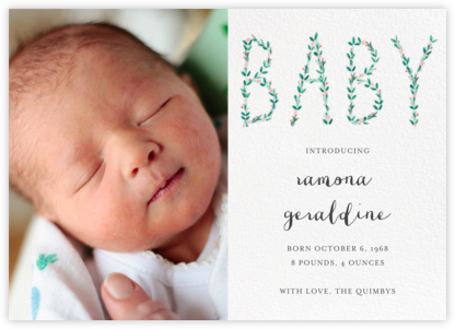 I'm Hedging My Bet Photo - Mr. Boddington's Studio - Birth Announcements