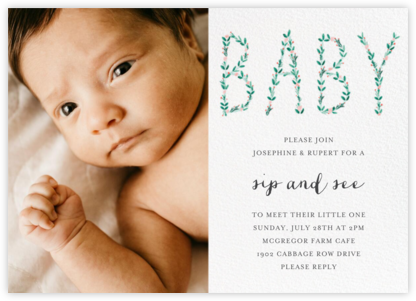 I'm Hedging My Bet Photo - Mr. Boddington's Studio - Baby Shower Invitations