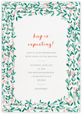 Le Joli Mai - Mr. Boddington's Studio - Baby Shower Invitations