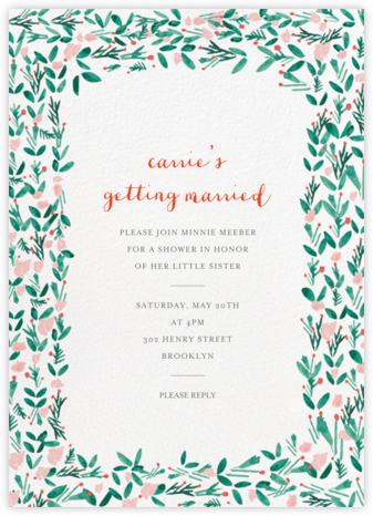 Le Joli Mai - Mr. Boddington's Studio - Bridal shower invitations
