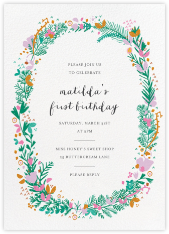 Miss Ivy - Mr. Boddington's Studio - Birthday invitations