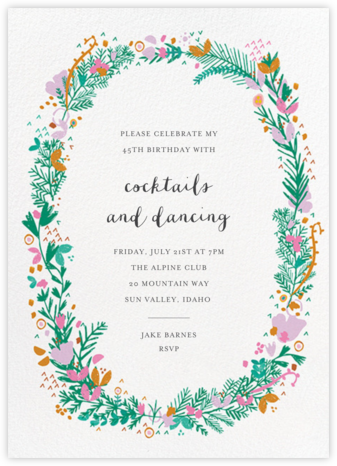 Miss Ivy - Mr. Boddington's Studio - Adult Birthday Invitations