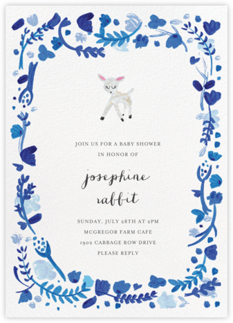 Miss Jane Doe - Mr. Boddington's Studio - Online Baby Shower Invitations