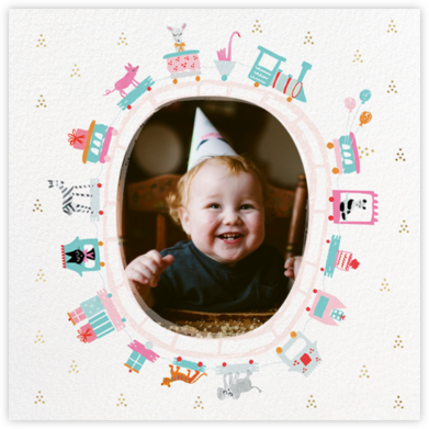 Round in Circles - Mr. Boddington's Studio - First Birthday Invitations