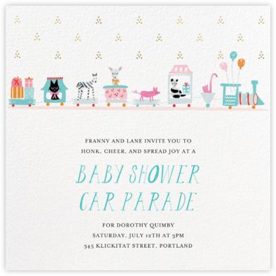 This Train's Going Local - Mr. Boddington's Studio - Baby Shower Invitations