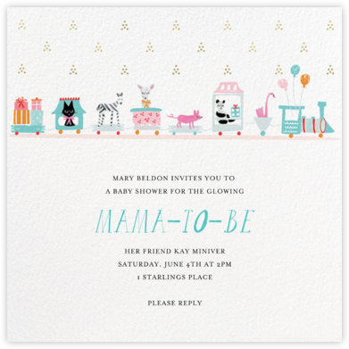 This Train's Going Local - Mr. Boddington's Studio - Celebration invitations