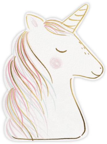 Feeling Unicorny - Meri Meri - Unicorn invitations