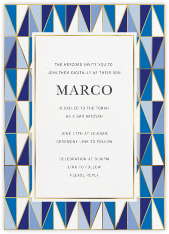 Laguna - Jonathan Adler - Bar and Bat Mitzvah Invitations