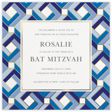 Penrose - Jonathan Adler - Bar and Bat Mitzvah Invitations