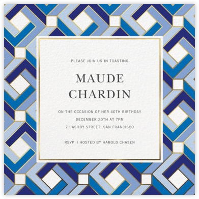 Penrose - Jonathan Adler - Adult Birthday Invitations