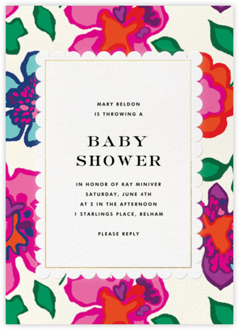 Floral Punch - kate spade new york - Baby shower invitations