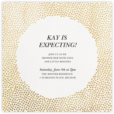 Konfetti - Gold - Kelly Wearstler - Baby Shower Invitations