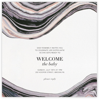 Marbleized - Kelly Wearstler - Baby Shower Invitations
