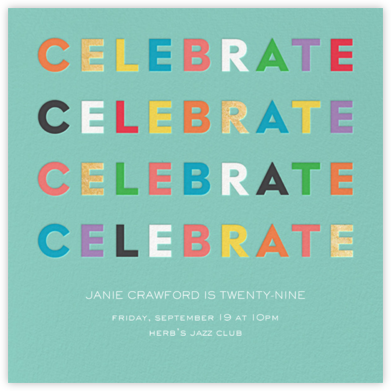 Colorful Celebration - kate spade new york - Adult Birthday Invitations