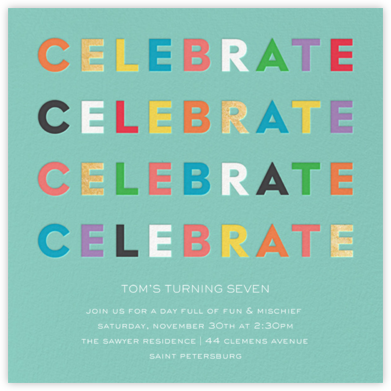 Colorful Celebration - kate spade new york - Online Kids' Birthday Invitations