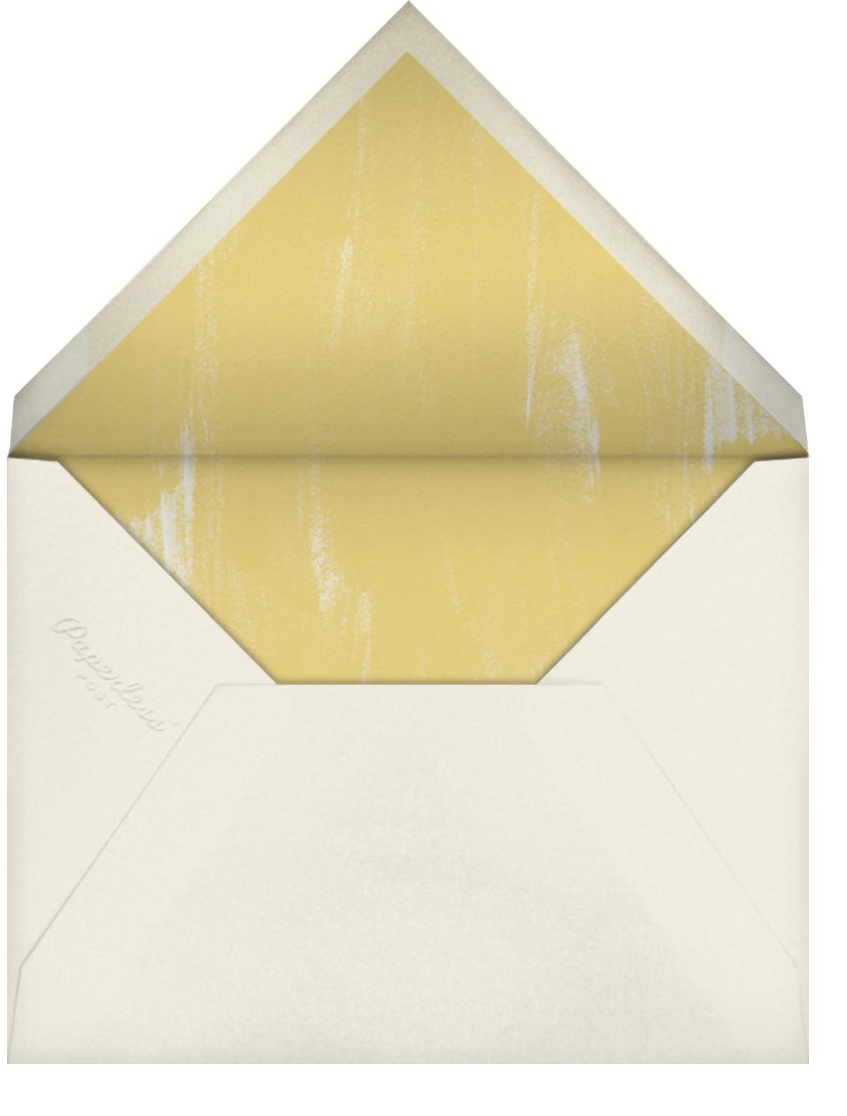 Watercolor - Indigo - Oscar de la Renta - Baby shower - envelope back