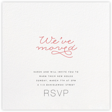 Moving Flourish - bluepoolroad - Housewarming party invitations