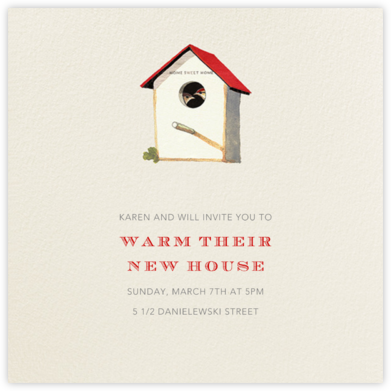 Home Sweet Home - Felix Doolittle - Celebration invitations