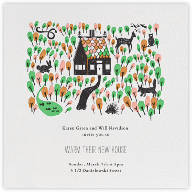 Red Riding Hood's New Home - Black - Mr. Boddington's Studio - Celebration invitations
