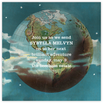 Globe - John Derian - Farewell party invitations