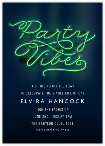Party Vibes - Cheree Berry - Bachelorette party invitations