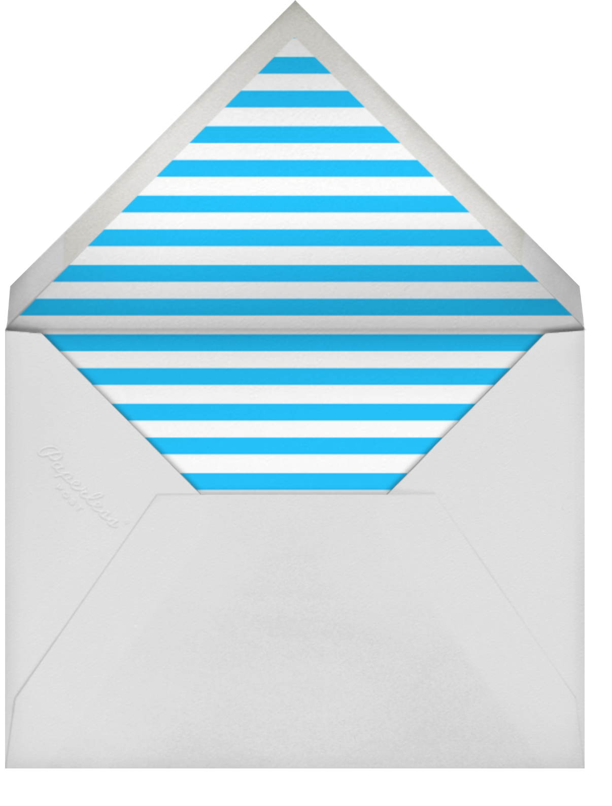 Little Coneheads - The Indigo Bunting - Kids' birthday - envelope back
