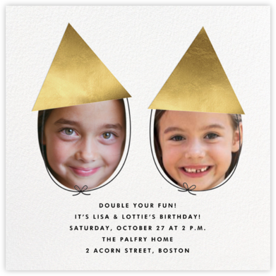 Little Coneheads - The Indigo Bunting - Birthday invitations