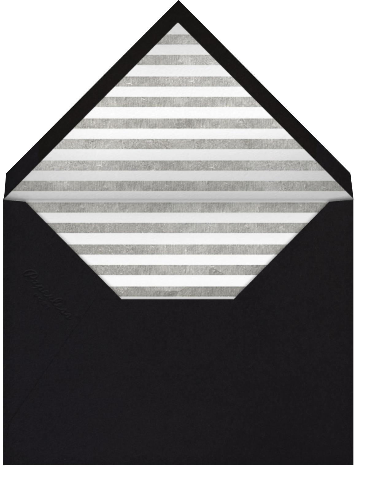 Lettered Bunting - Metallic - The Indigo Bunting - Adult birthday - envelope back