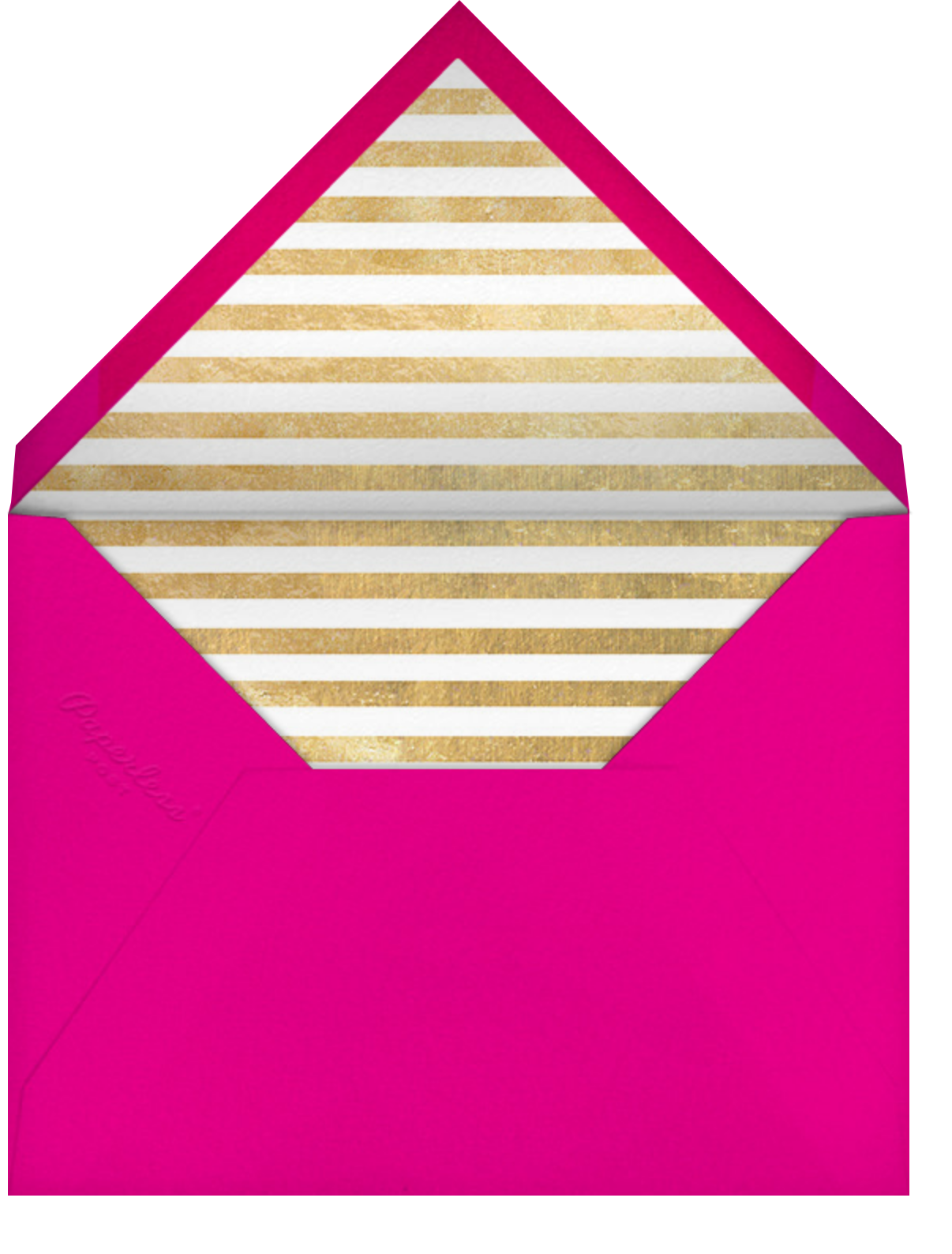 Lettered Bunting - Pink - The Indigo Bunting - Birthday - envelope back