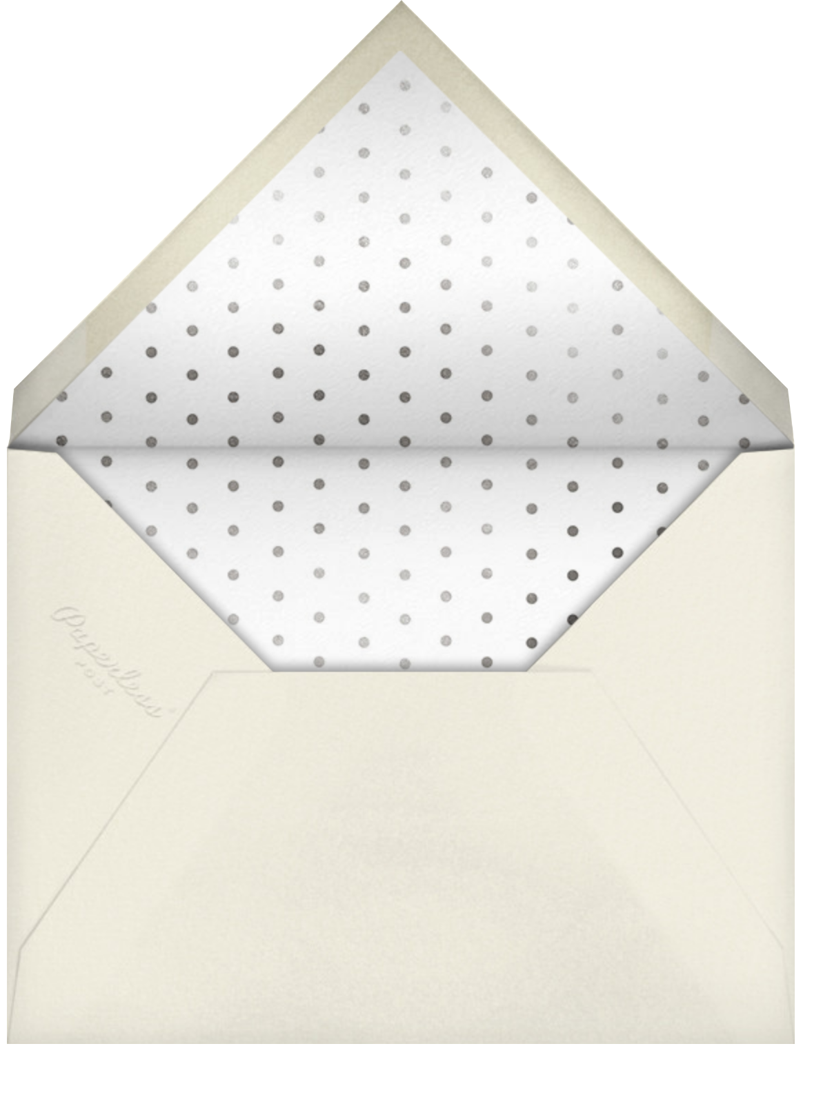 A Tall One - kate spade new york - First birthday and baby - envelope back
